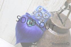 画像1: ◆custom◆モコモコノコ(ギアパーツ、パールEYE)_[ベロアHAT×ブルー]